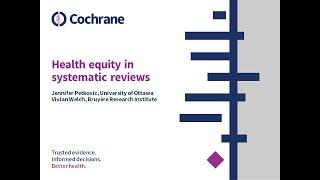 2020-06-12 Cochrane SA webinar: Health equity in systematic reviews