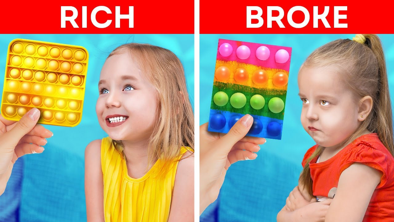 Rich Mom VS Broke Mom! Creative Hacks For Parents By A PLUS SCHOOL