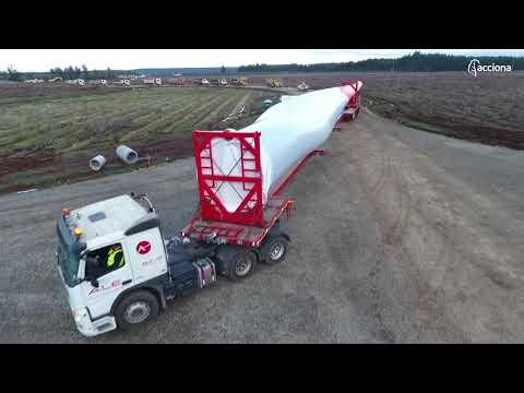 Discover how we transport the main components of a wind farm