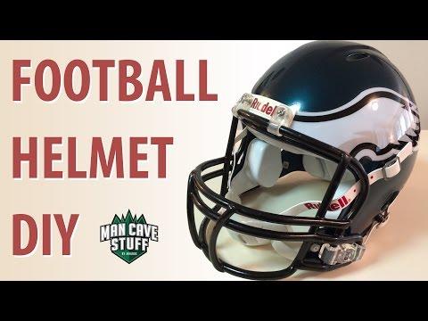 DIY Football Helmet | Eagles Man Cave Idea