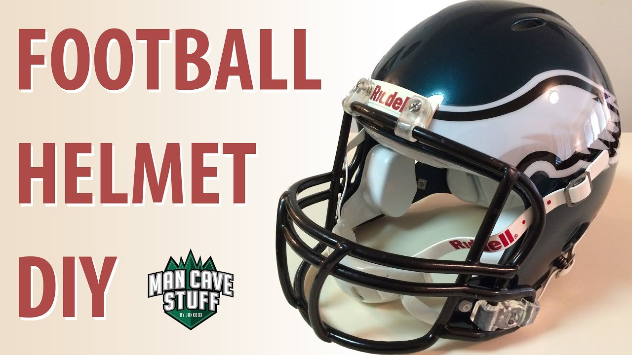 DIY Football Helmet | Eagles Man Cave Idea - YouTube
