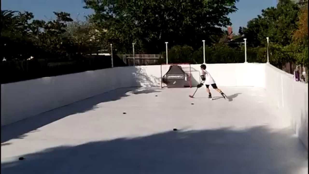 super glide home hockey rink by global synthetic ice youtube