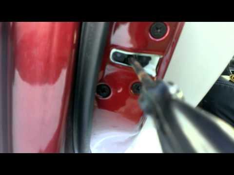 смазка замка двери