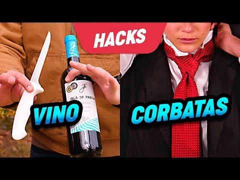 Hacks para abrir una botella de vino y hacer un nudo de corbata