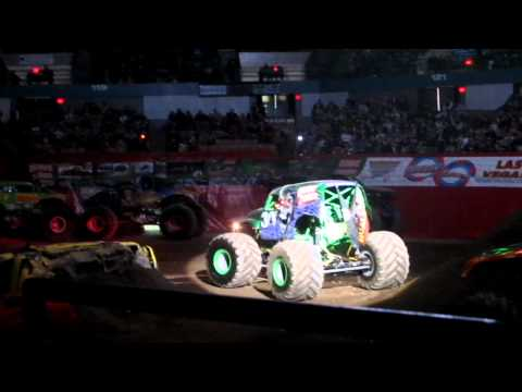 Grave Digger (Dennis Anderson) Intro Monster Jam 2/18/12 DCU Center Worcester, MA
