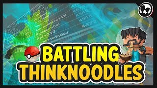 LUTANDO CONTRA O THINKNOODLES! | Roblox: Pokemon tijolo bronze