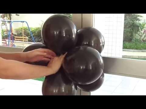 Arco de Balões com Estrutura Simples de PVC