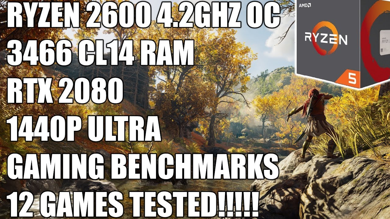 Ryzen 2600 + RTX 2080 - 1440P Ultra Gaming Benchmarks - 12 Games Tested