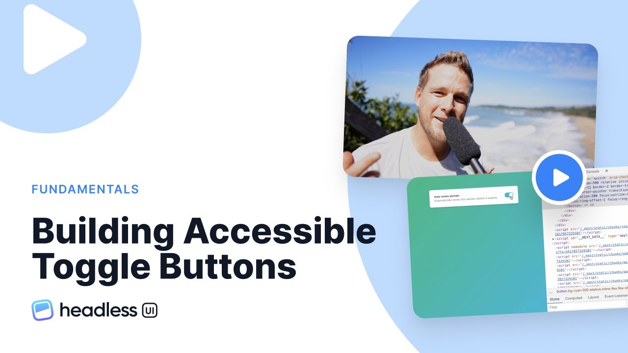 Building Accessible Switch/Toggle Buttons with Headless UI React and Tailwind CSS