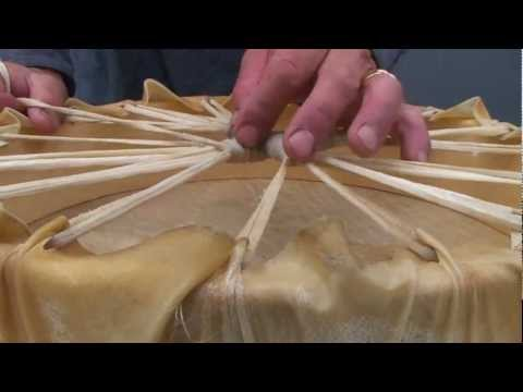 How to make a traditional Coast Salish Drum: Jorge Lewis Drum Maker