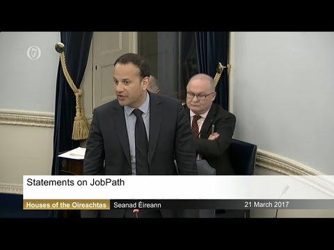 Seanad Debate - Item 3 - JobPath: Statements - Leo Varadkar (21/3/17) (480p)