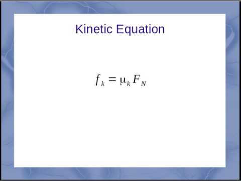 how to find kinetic friction force