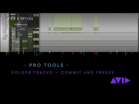 Pro Tools — Commit and Freeze with Folder Tracks