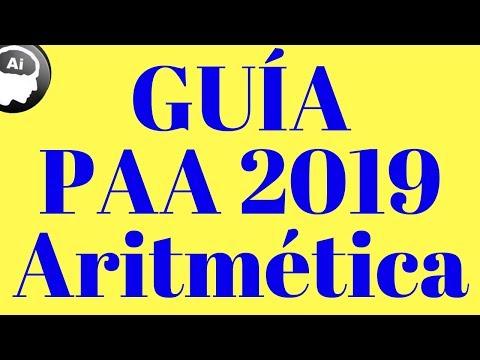 GUÍA PAA 2019, Aritmética