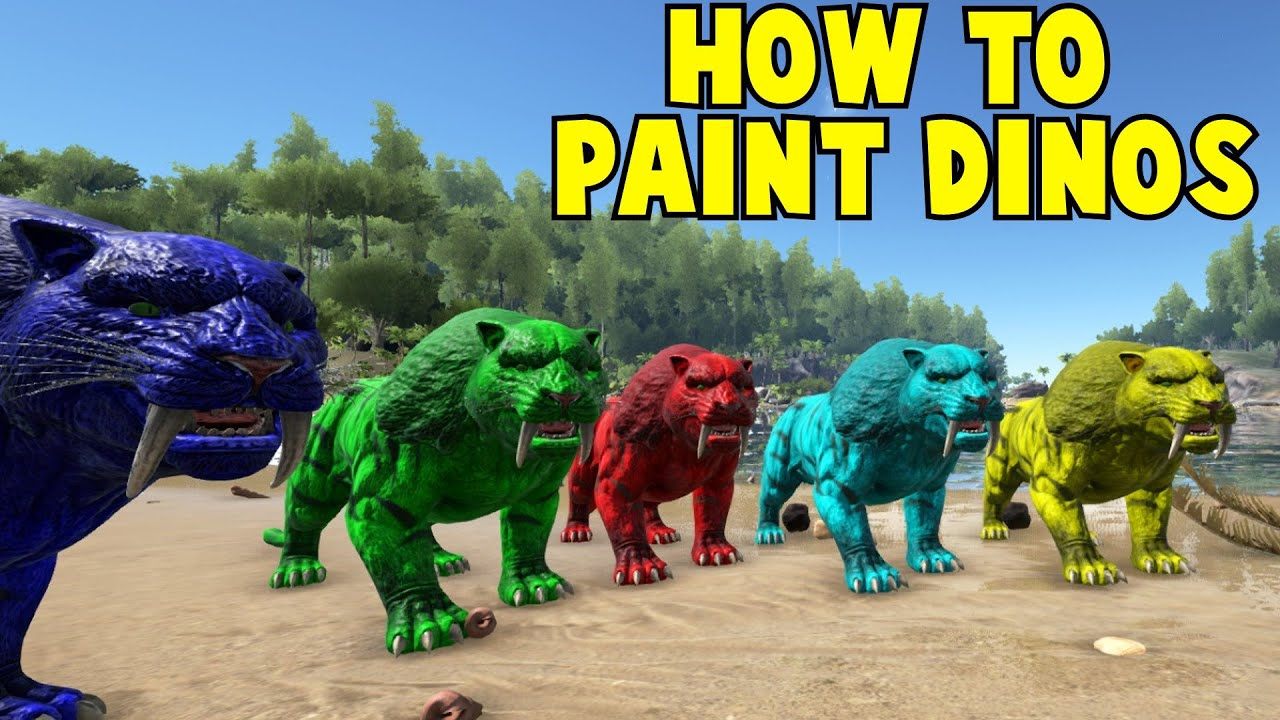 How To Paint Your Dinos Ark Survival Evolved  YouTube