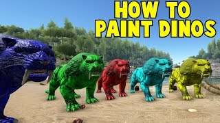 How To Paint Your Dinos Ark Survival Evolved