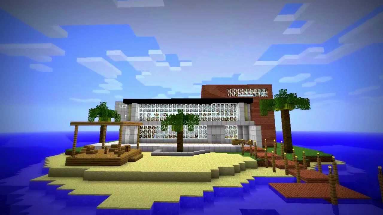Modern Island House In Minecraft