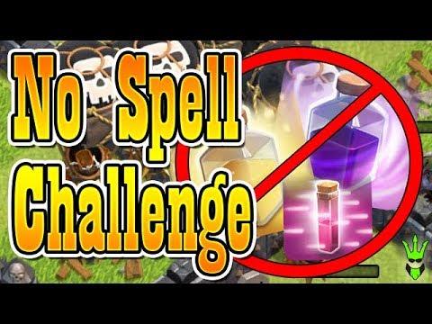 FARMING USING NO SPELLS! - Let's Play TH10 - Clash of Clans - No Spell Farming!