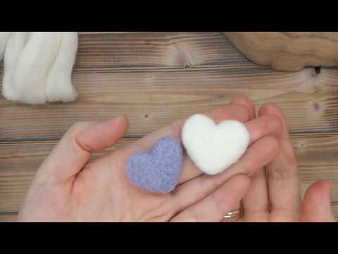 Как легко свалять сердечко из шерсти/валяное сердечко/валяем сердечко/повязка для девочки