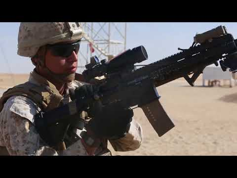 US MARINES Conduct Fire & Maneuver Drills in Kuwait
