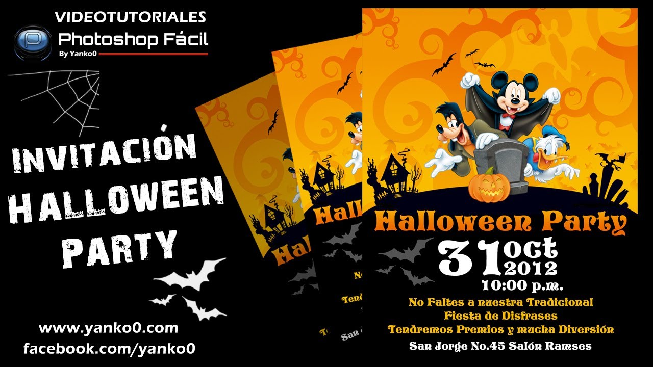 Invitación Halloween Party Photoshop