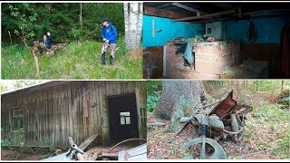 Old mopeds and Big old abandoned house & outhouses Hylätty talo  URBAN EXPLORING 4k rural