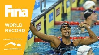 Etiene Medeiros | World Record 50m Backstroke | 2014 FINA World Swimming Championships Doha