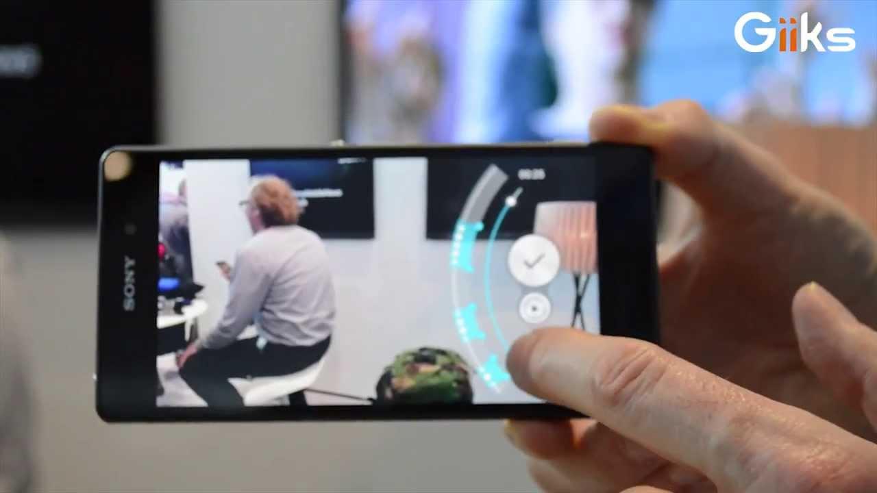 Sony Xperia Z2 : démo slow motion