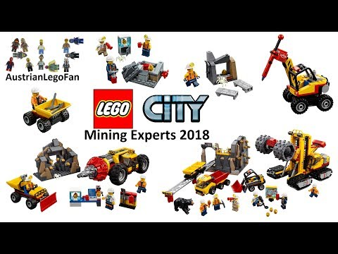 All Lego City Mining Experts Sets 2018 - Lego Speed Build Review