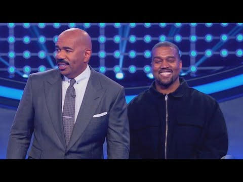 Watch Kanye West Smiling Non-Stop During Celebrity Family Feud
