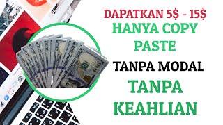 DIBAYAR 15 DOLLAR HANYA COPY PASTE, 3 TRIK FIVEER PEMULA