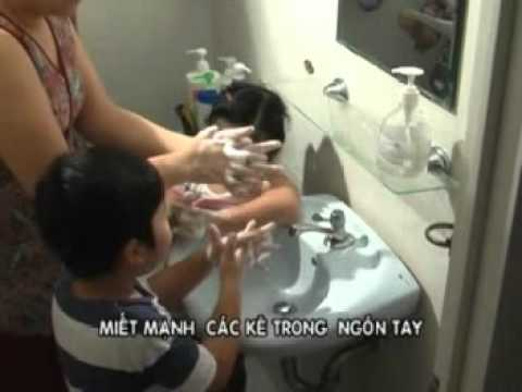 """Rửa tay sạch phòng chống bệnh """"tay - Chân - Miệng"""""""