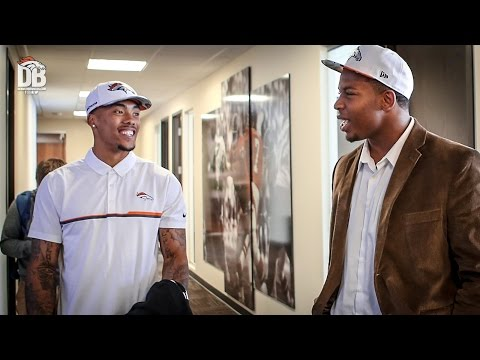 DeMarcus Walker, Brendan Langley tour the Broncos facility