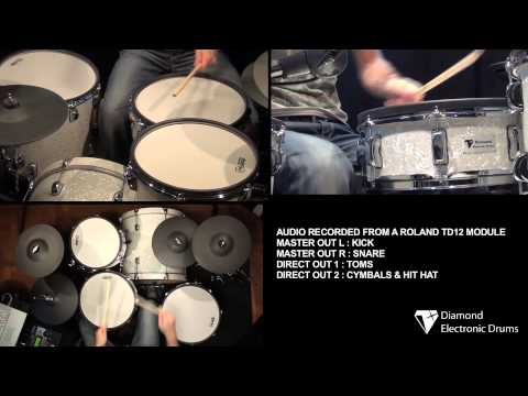 PART 2 - Diamond Electronic Snare drum review.