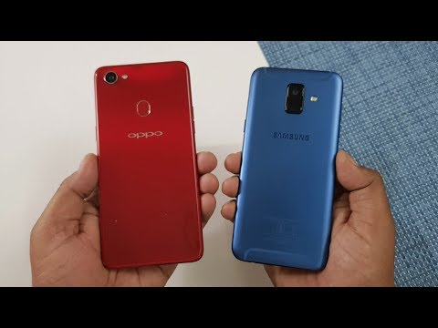 Oppo F7 vs Samsung A6 Speed Test !