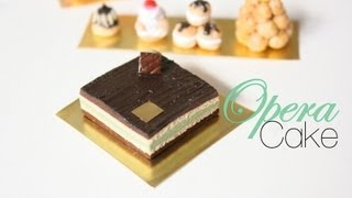 Opera Cake : French Pastries & Desserts Episode # 2  - Polymer Clay Tutorial Thumbnail