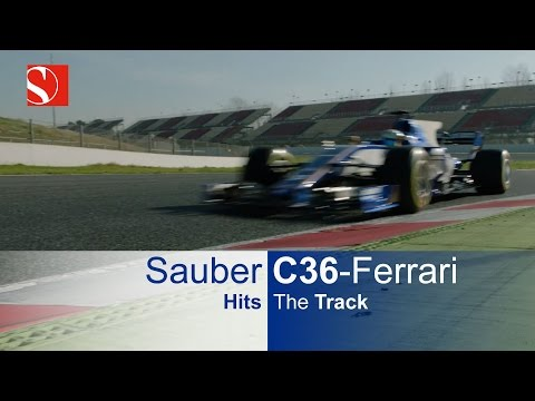 Sauber C36-Ferrari Hits The Track