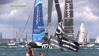 The 2011 Rolex Fastnet Yacht Race Start at Cowes