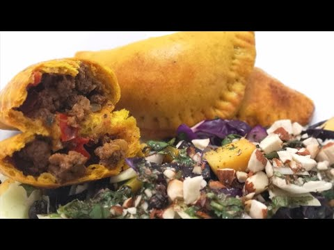 فطائر-و-سلطة-جمايكية---jamaican-patties-&-salad---galettes-et-salade-jamaïcaines--empanada-jamaicana