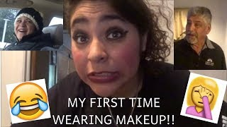 MY PARENTS REACT TO ME WEARING MAKEUP FOR THE FIRST TIME!!