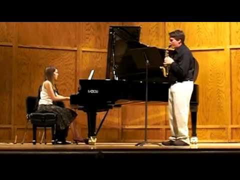 """Lunde """"Alpine"""" Sonata for soprano sax and piano Mvt. I - Allegro Moderato"""