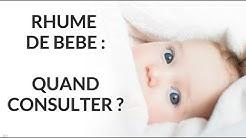 Rhume de bébé : quand consulter ?