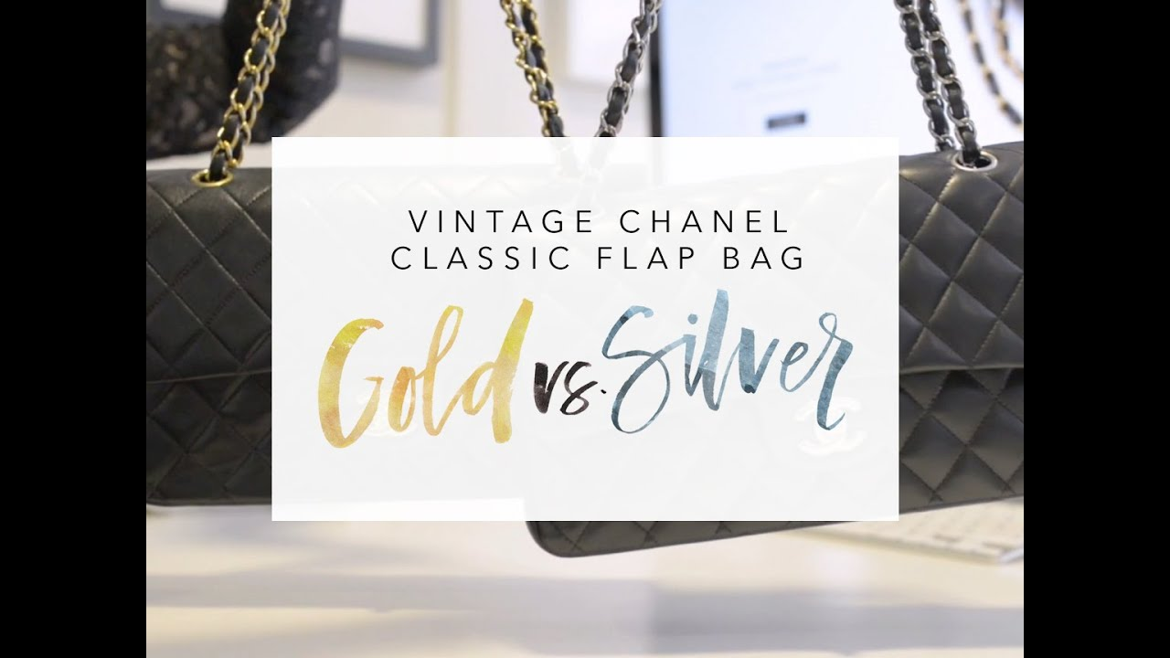 80d72008060 Vintage Chanel Classic Flap Bag - Gold vs Silver - YouTube