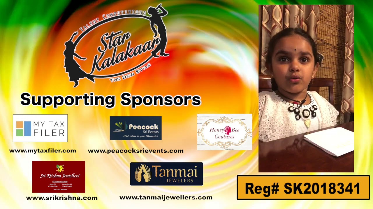 Participant Reg# SK2018-341 Introduction - US Star Kalakaar 2018 || DesiplazaTV
