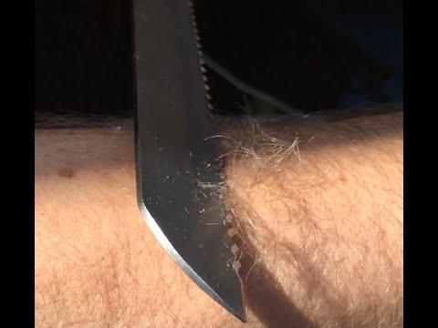 Sharpening Serrated Knives in Minutes Shaving Sharp on Razor Sharp Paper Wheels