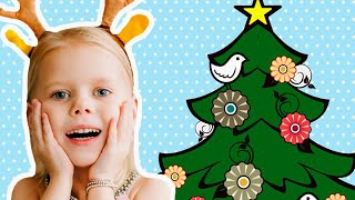 Vitalina and christmas tree. Magic story.
