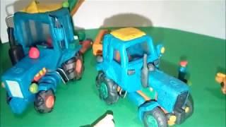 видео: Cool hobby: Plasticine product the tractor MTZ-80 Крутое хобби: Пластилиновая лепка трактор МТЗ-80