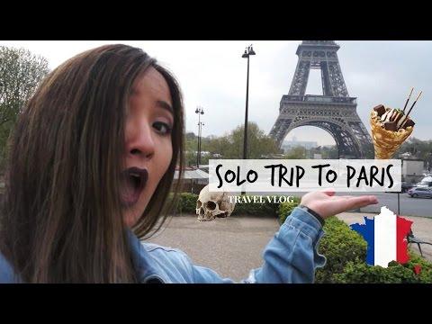 SOLO TRIP TO PARIS TRAVEL VLOG | Eiffel Tower, Catacombs of Paris + Arc de Triomphe
