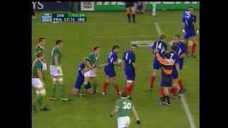 2003 Rugby coupe du monde France Irlande Quart De Finale 43 21