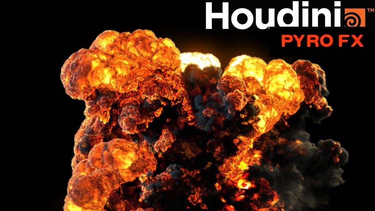 Houdini 17 Pyro fx explosion test 01   CGHOW